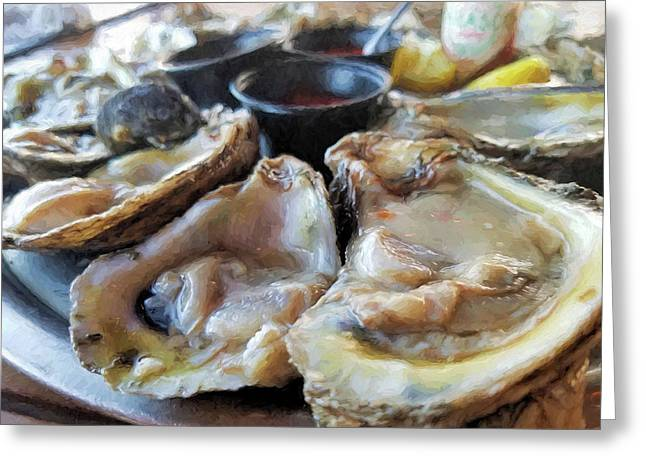Oysters On The Halfshell  Greeting Card by JC Findley