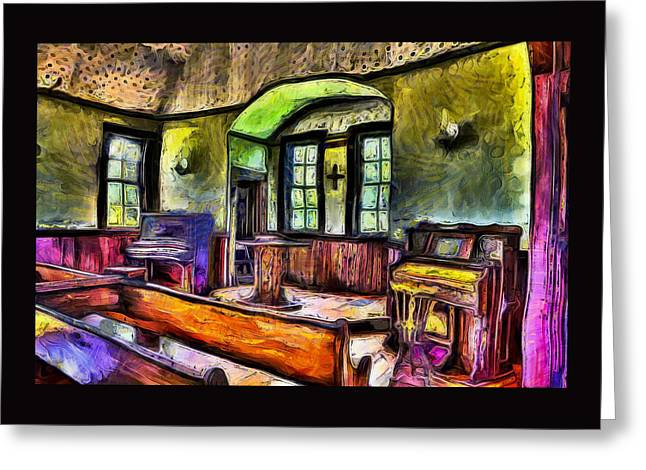 Oysterville Church Interior Greeting Card