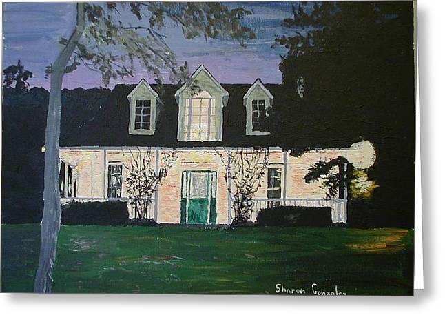 Ozark House At Dusk Greeting Card by Sharon  De Vore