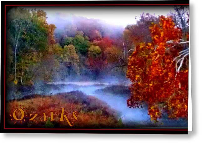 Ozark Mountain Mist Greeting Card by Lesli Sherwin