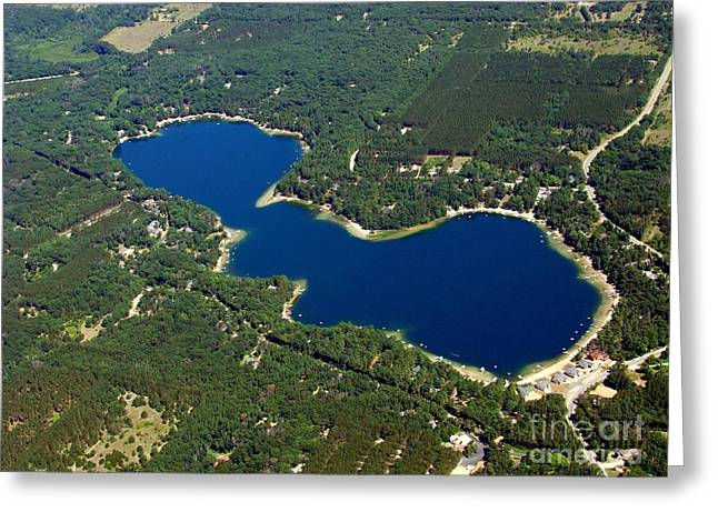 P-012 Pearl Lake Waushara County Wisconsin Greeting Card