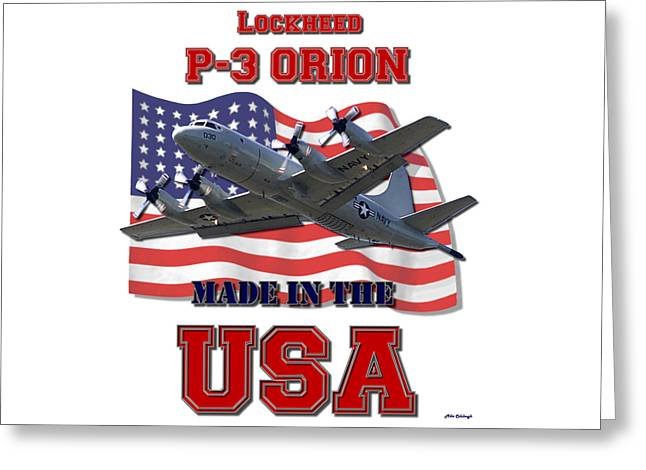 P-3 Orion Made In The Usa Greeting Card