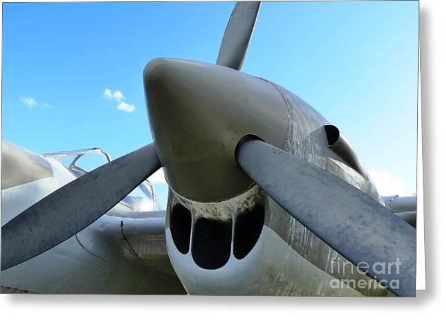 P-38  Lightning Aircraft Greeting Card