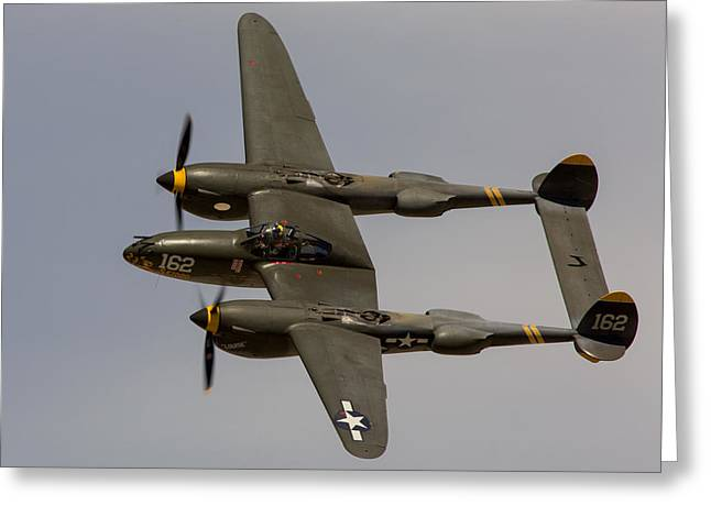 P-38 Skidoo Greeting Card by John Daly