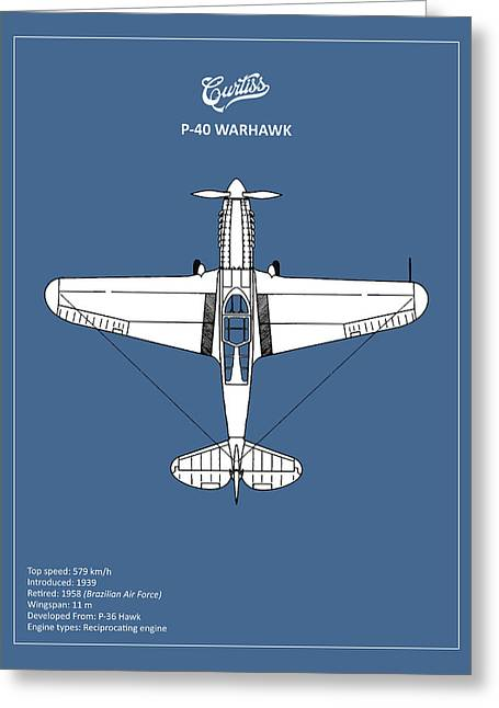 P-40 Warhawk Greeting Card by Mark Rogan