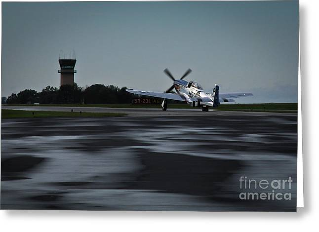 Greeting Card featuring the photograph P-51  by Douglas Stucky
