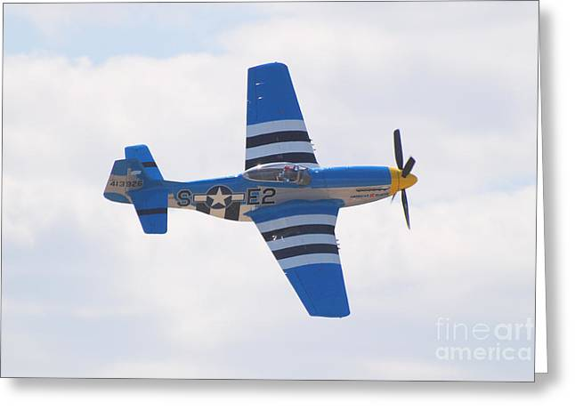 Greeting Card featuring the photograph P-51 Mustang American Rose by Larry Keahey