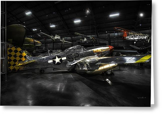 P 51 Mustang H D R_ W P A F Museum Greeting Card