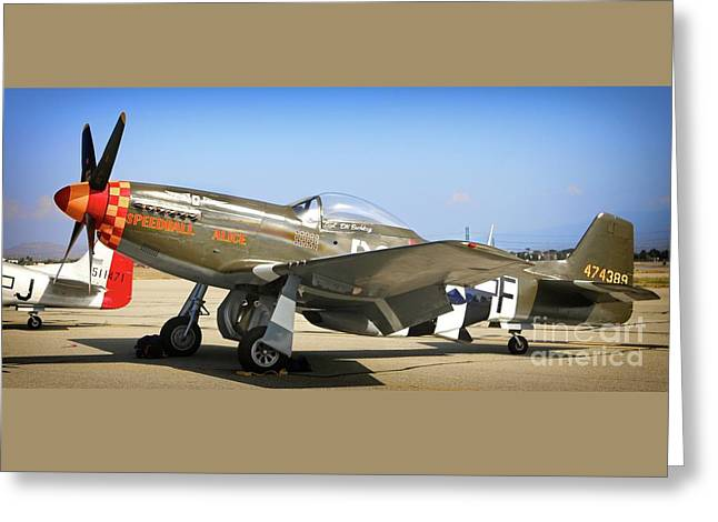 P-51 Mustang Speedball Alice Greeting Card by Gus McCrea