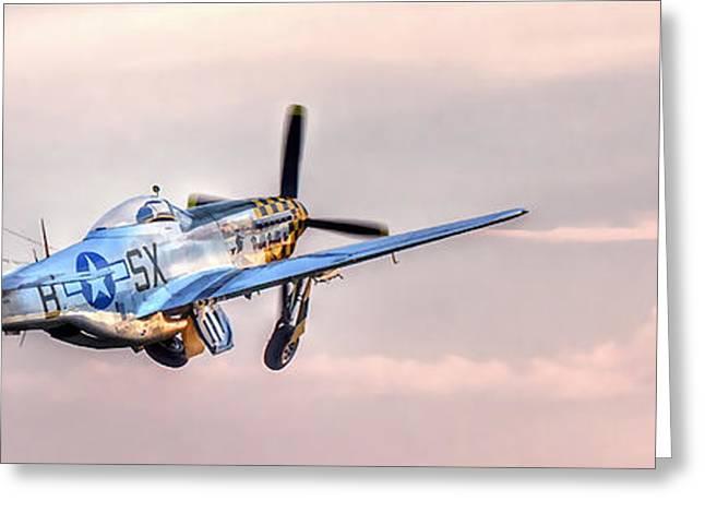 P-51 Mustang Taking Off Greeting Card