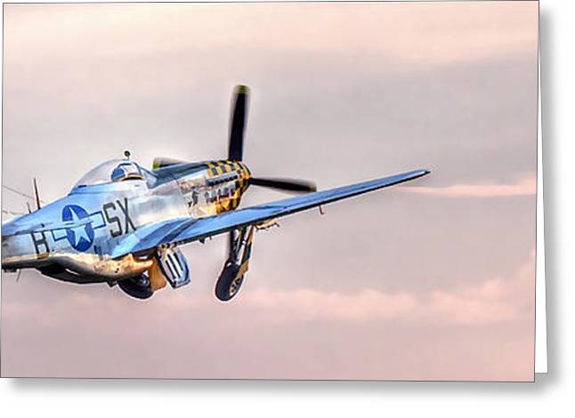 P-51 Mustang Taking Off Greeting Card