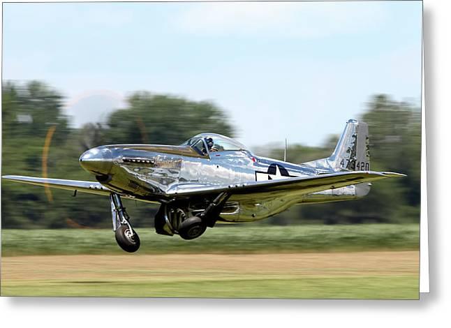 P-51 Takeoff Greeting Card