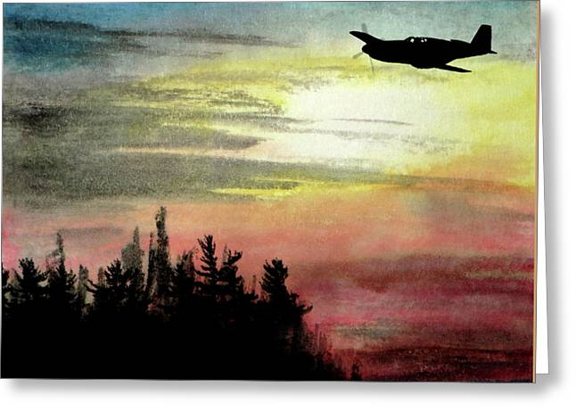 P-51b Razorback Greeting Card