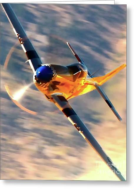 P-51d Grim Reaper And Dan Martin Greeting Card