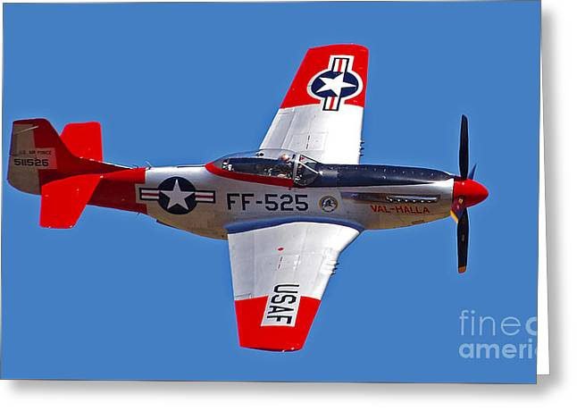 P-51d Mustang Flyby Greeting Card