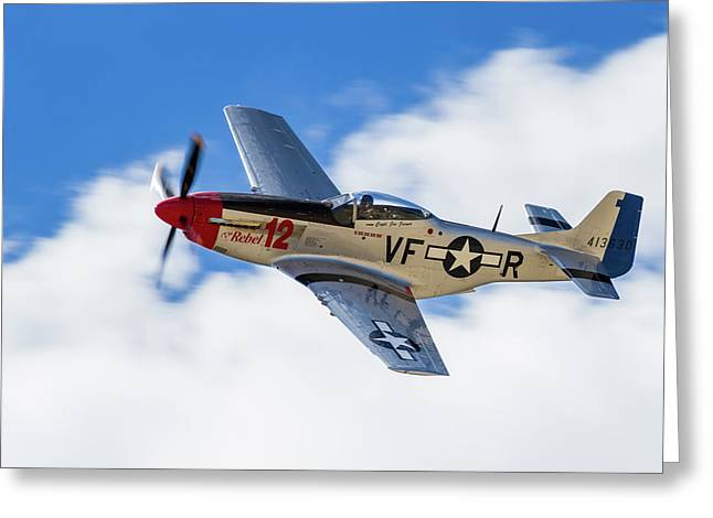 P-51 The Rebel Greeting Card