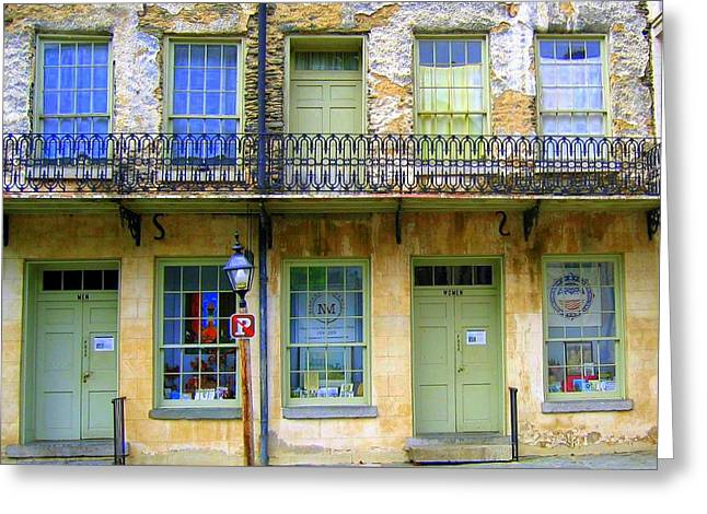 Greeting Card featuring the photograph P Forbidden In Downtown Harpers Ferry  by Don Struke