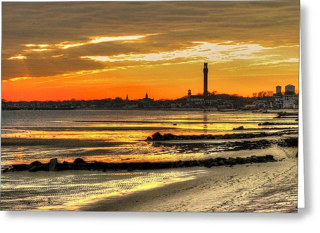 P Town Sunset Greeting Card by John Nielsen