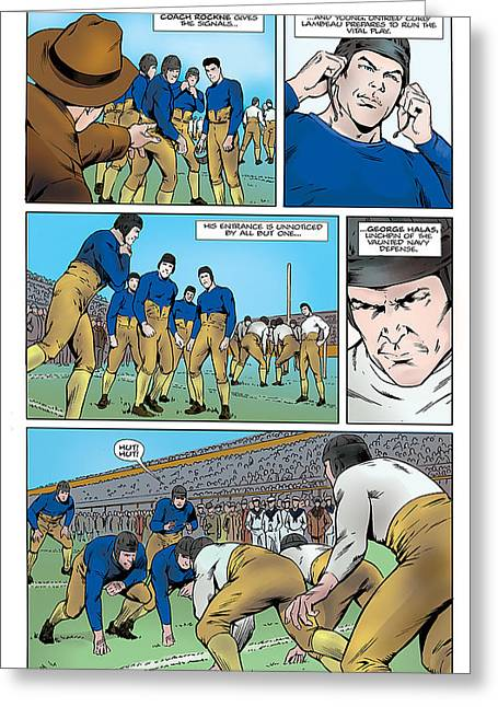 P.2 Gridiron The Beginning Greeting Card by Greg Le Duc Ron Randall