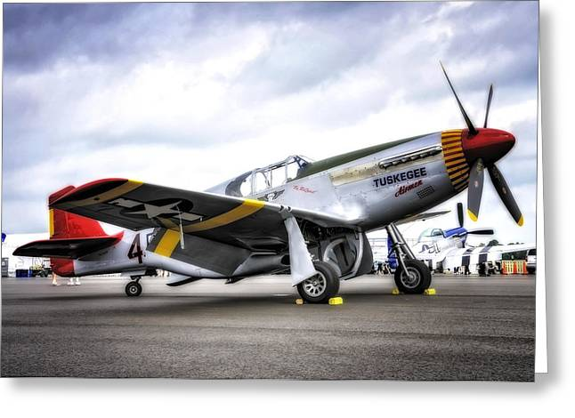 P51-c Mustang In Hdr Greeting Card