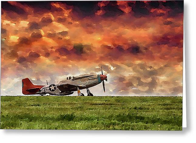 P51 Warbird Greeting Card