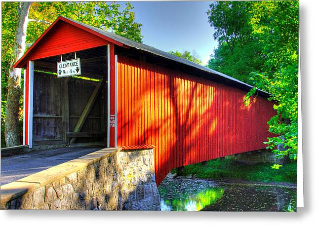 Pa Country Roads - Witherspoon Covered Bridge Over Licking Creek No. 4b - Franklin County Greeting Card