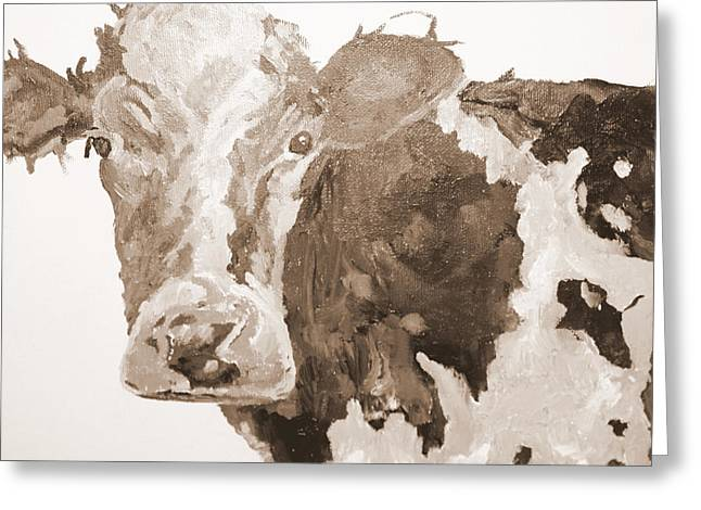 Pa Cow Study 1 Greeting Card