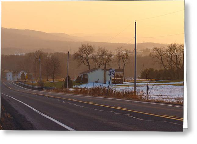 Pa State Road 45 Greeting Card by Phillip Schafer