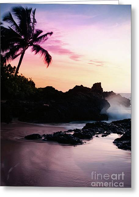 Paako Beach Sunset Jewels Greeting Card