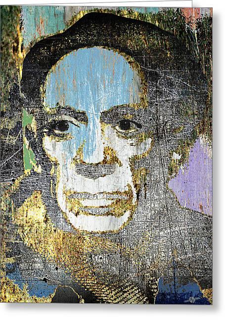 Pablo Picasso 2 Greeting Card by Tony Rubino