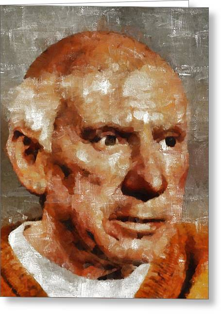 Pablo Picasso, Artist Greeting Card by Mary Bassett