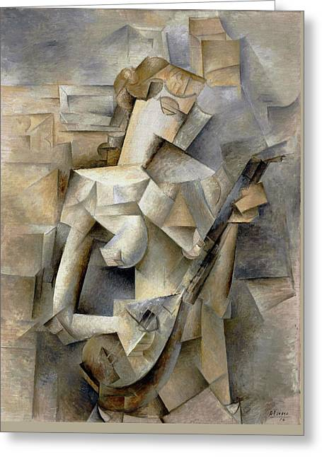 Pablo Picasso Girl With A Mandolin 1910 Greeting Card