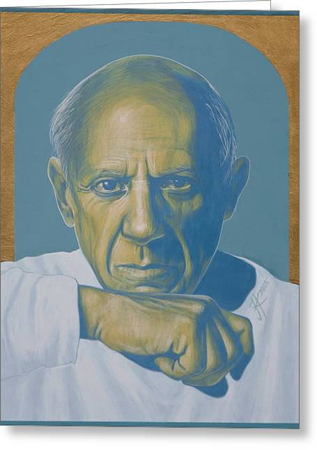 Pablo Picasso Greeting Card by Jovana Kolic