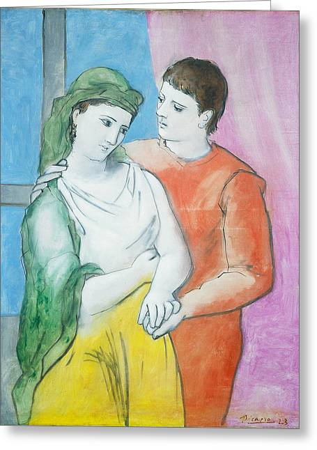 Pablo Picasso Greeting Card by MotionAge Designs