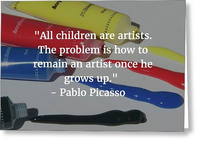 Pablo Picasso Quote Greeting Card