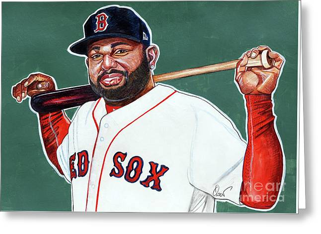 Pablo Sandoval Greeting Card by Dave Olsen