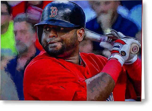 Pablo Sandoval Greeting Card by Rick Mosher