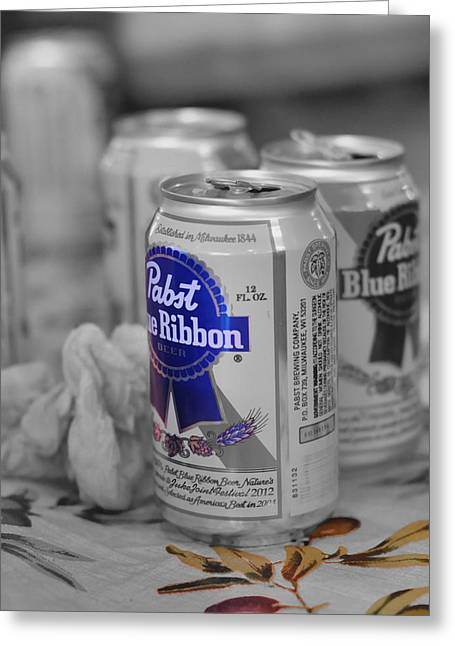 Pabst In Blue Greeting Card