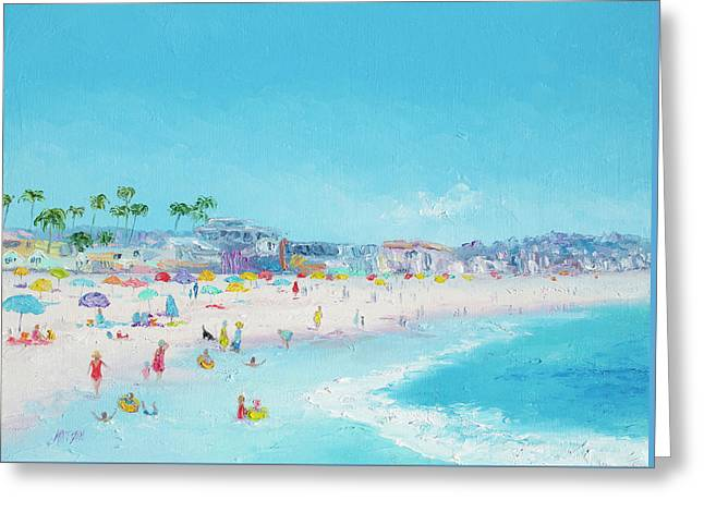 Pacific Beach In San Diego Greeting Card by Jan Matson