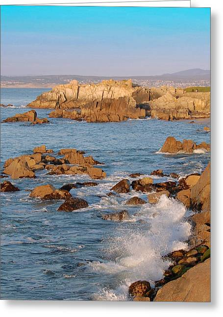 Pacific Beachline Greeting Card by Pearson Photography