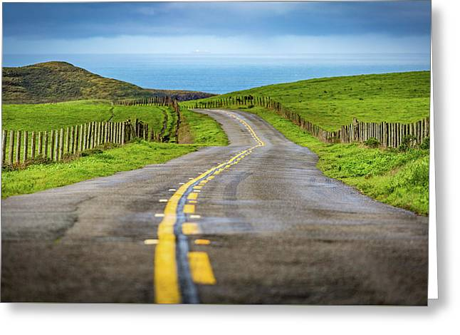 Pacific Coast Road To Tomales Bay Greeting Card