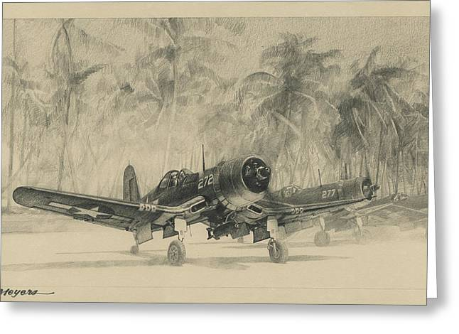 Pacific Corsairs Greeting Card
