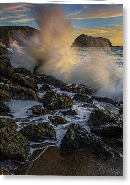 Pacific Fury Greeting Card by Rick Berk