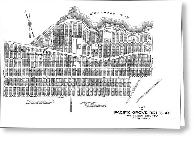 Pacific Grove May 7 1887 Greeting Card