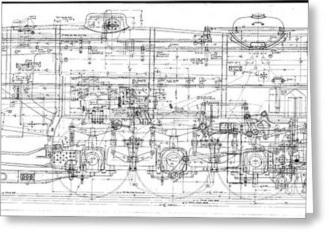 Pacific Locomotive Diagram Greeting Card