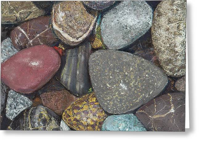 Pacific Nw Beach Rocks Greeting Card
