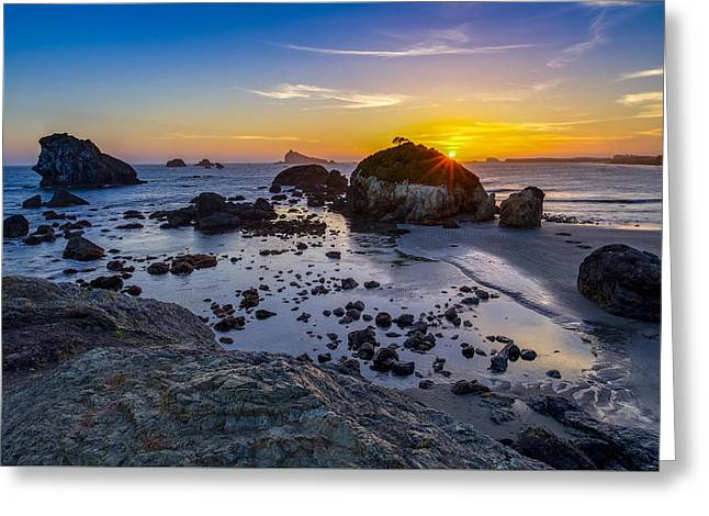 Pacific Ocean Northern California Sunset Greeting Card by Scott McGuire