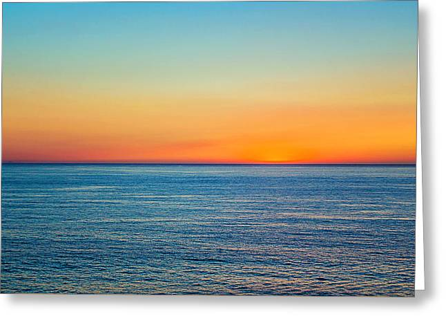 Pacific Ocean Sunset Greeting Card by April Reppucci