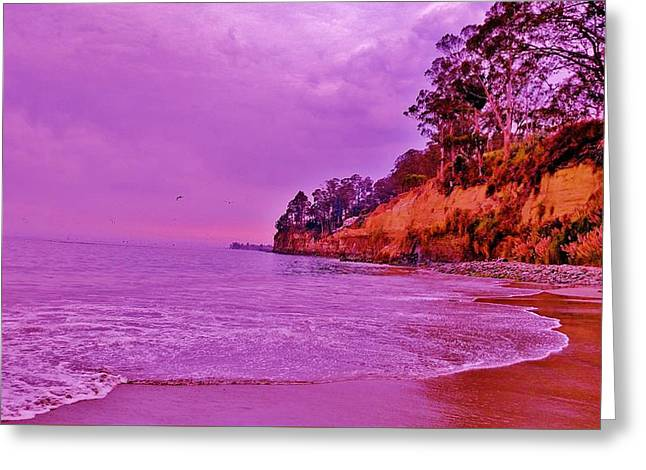 Pacific Ocean Tides Greeting Card by Peggy Leyva Conley