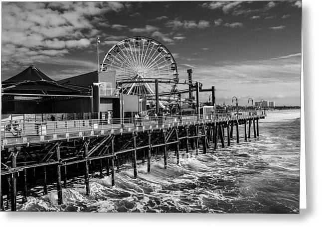 Pacific Park Bw Greeting Card